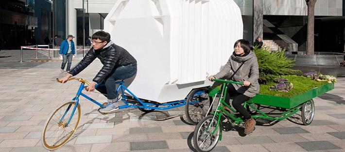 Insolites : un jardin sur un vélo