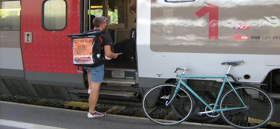 Mon vélo dans le train: le TGV