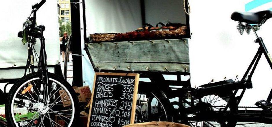 Les marchés mobiles: le vélo parfumé aux produits de saison