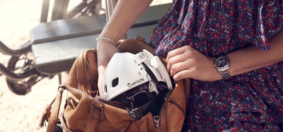 Après le vélo pliable, le casque!