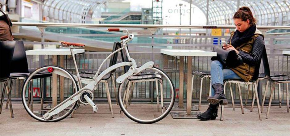 Sada Bike, le vélo pliable aussi discret qu'un parapluie