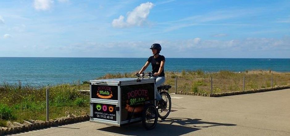 Popote-mobile, livraison à vélo de soupe
