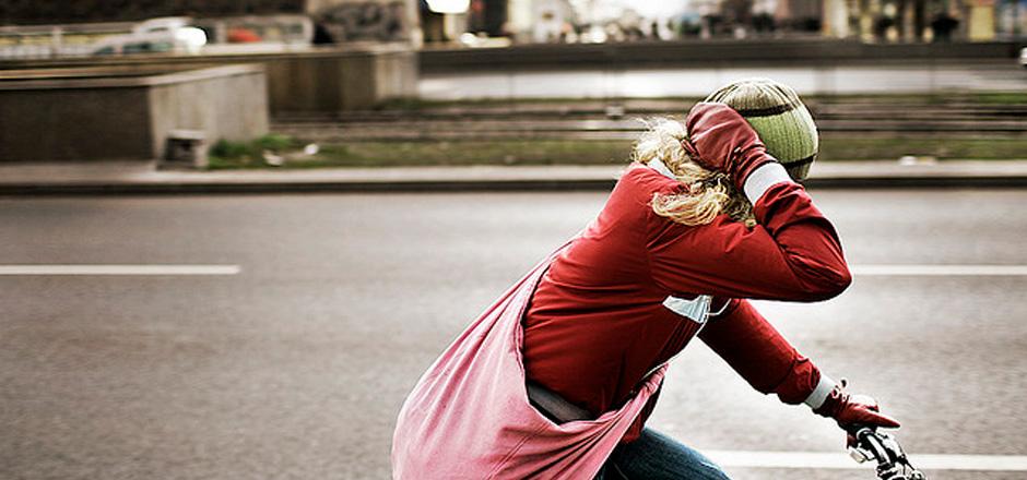 Faire du vélo l'hiver et rester motivée