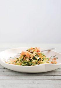 tagliatelles courgettes et saumon frais