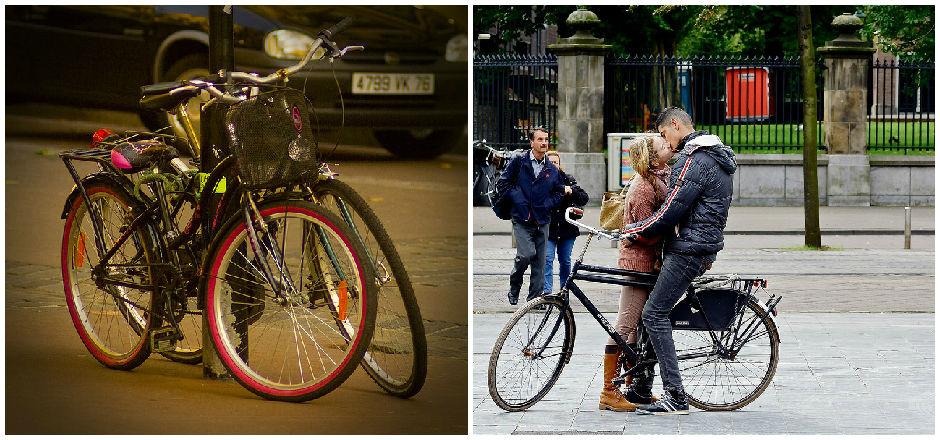 Quand le vélo à deux rend amoureux... Bonne Saint-Valentin!