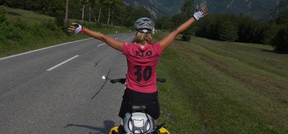 Elodie Nérambourg, la fan de voyage à vélo!