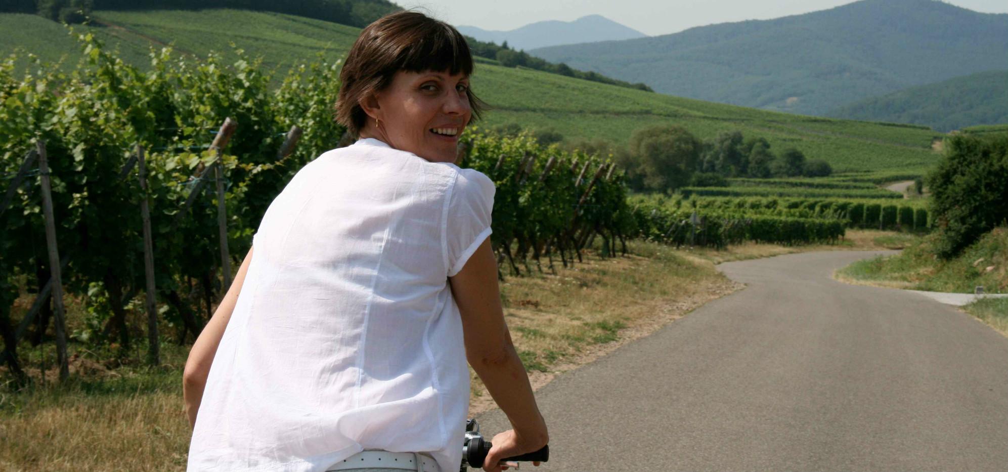 """Laurence Bibot: """"Rouler à vélo rend la femme terriblement sexy"""""""