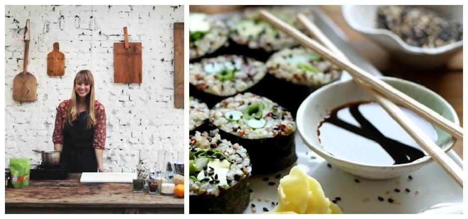 Sushis au quinoa et légumes de printemps
