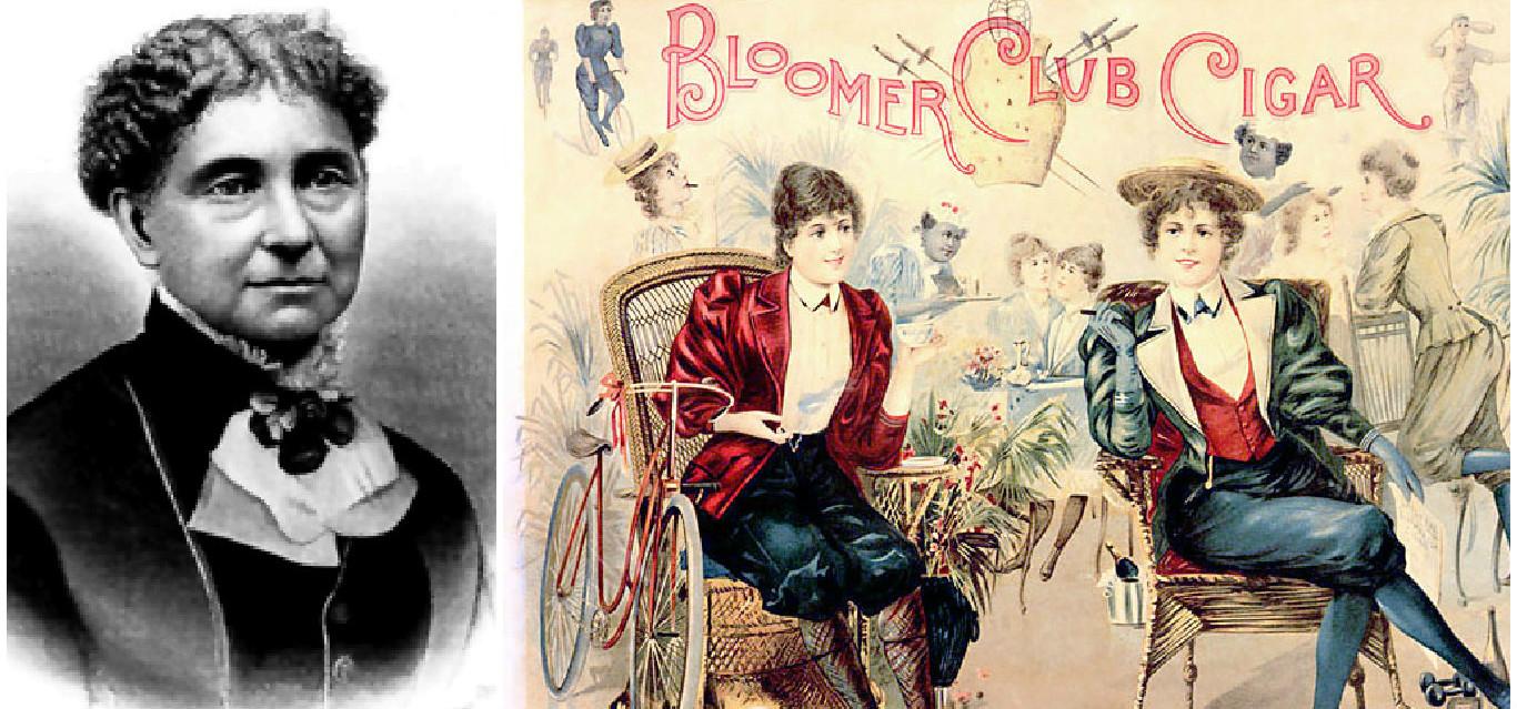 Histoire de la femme à vélo: Amelia Bloomer et Liby Miller