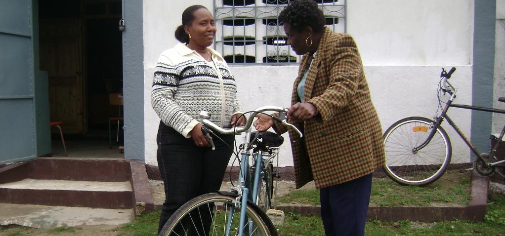 Marie Flore Belizaire: infirmière sur deux roues