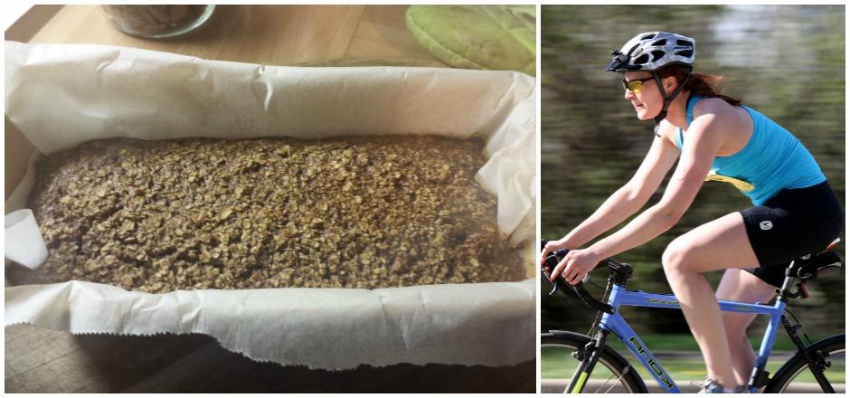 Une collation saine, contenant peu de gluten et idéal pour recharger vos batteries après une sortie en vélo? Découvrez notre gâteau aux flocons d'avoine.