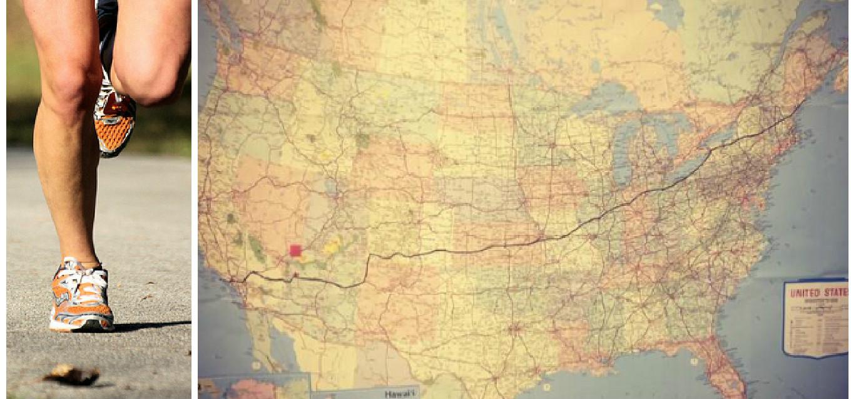 Courir pour une association et traverser les Etas-Unis à pieds