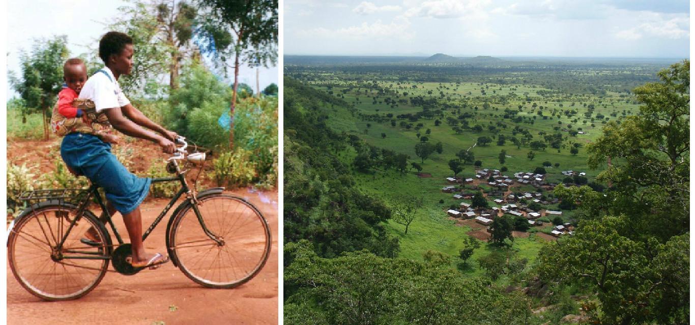 Hountondji Aimée: faire le trajet à vélo et aller à l'école