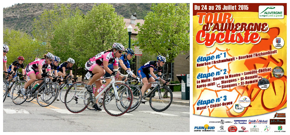 Ces 25 et 26 juillet prochains, ne ratez pas la Finale de la Coupe de France Minimes-Cadettes lors du Tour d'Auvergne Féminin 2015.