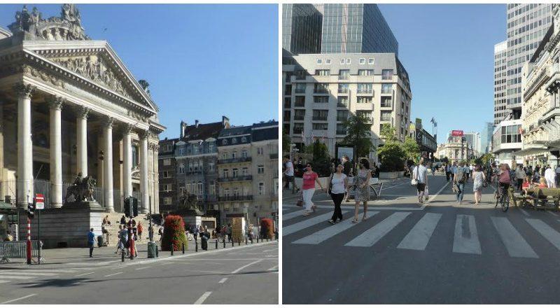À vélo à Bruxelles: dans les rues du nouveau piétonnier...