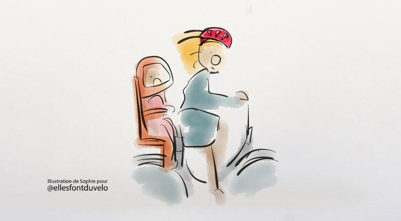 Vélo et siège-bébé tout confort