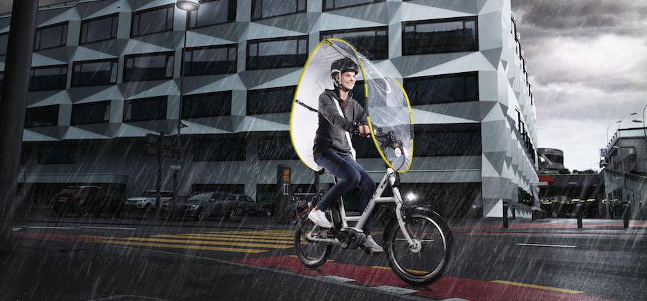 Dryve, votre bouclier pour rouler à vélo sous la pluie