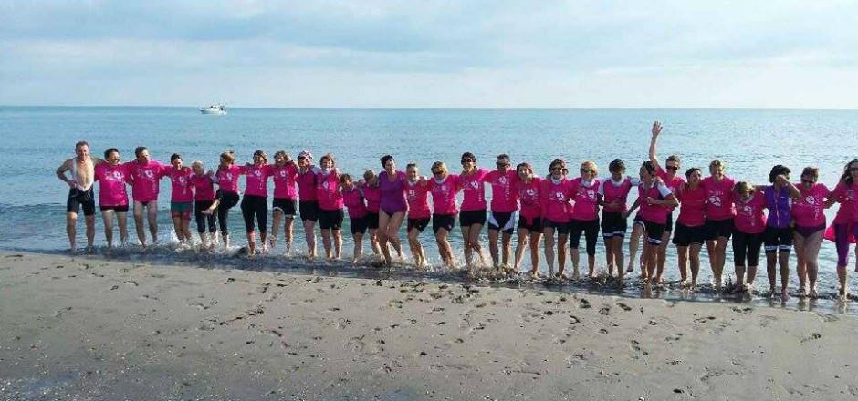 Faire un pied de nez à la maladie en étant unies et solidaires, c'était l'objectif du défi «À la mer à vélo», relevé par les 23 participantes!