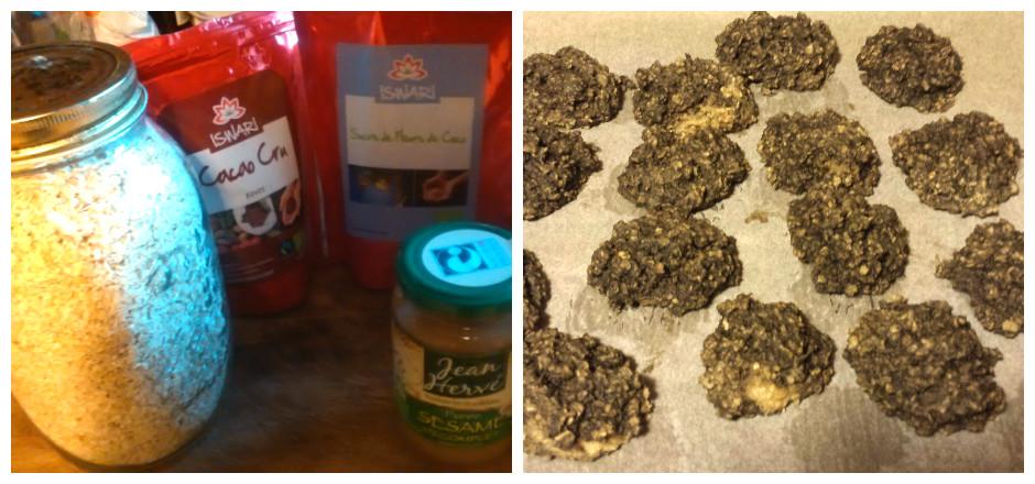 Découvrez la recette des cookies aux flocons d'avoine, sirop d'agave et purée d'amande. Une collation sans gluten qu'on aime déguster après le sport!