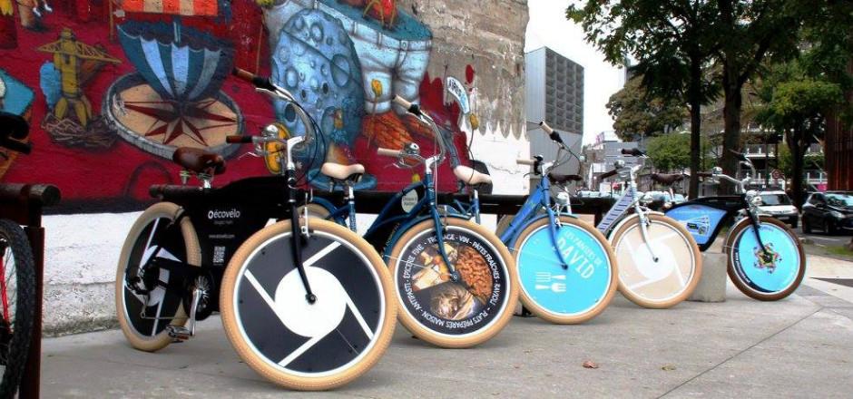 Écovélo offre des vélos publicitaires aux étudiants en contrepartie d'un maximum de visibilité. Avez-vous vu déjà aperçu ces bicyclettes?