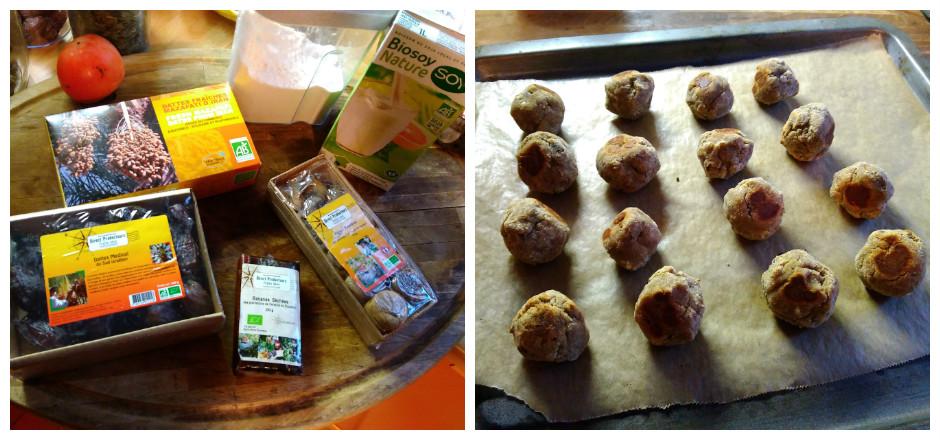 Cette semaine, vous ne résisterez pas aux truffes aux fruits secs sans gluten proposées par Mulinsport. Si vite prêt et 100% bio! Un régal!