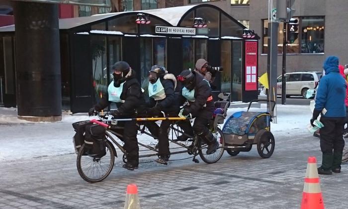 Vélo sous zéro, Montréal