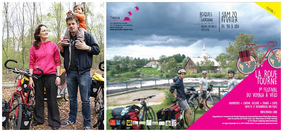 Le 20 février 2016, ne manquez pas le 1er festival du voyage à vélo à Roques-sur-Garonnes. Expériences enrichissantes et balades inspirantes à découvrir!
