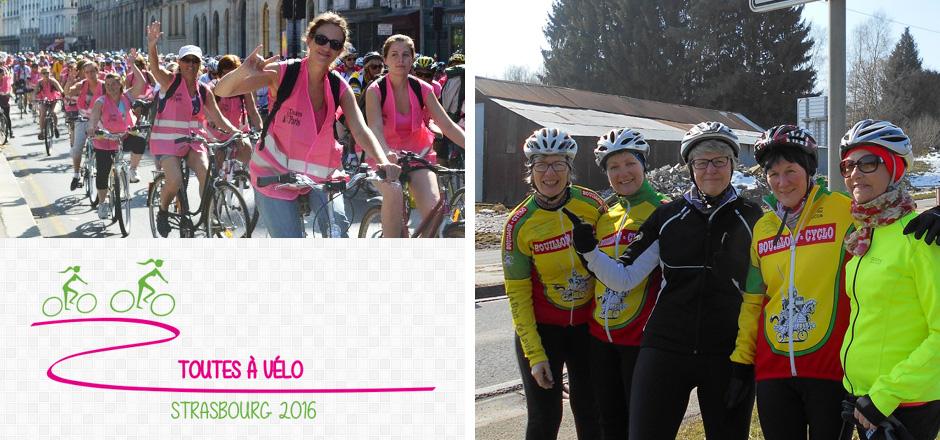 Nadine et son groupe, un Toutes à vélo 2016 de battantes