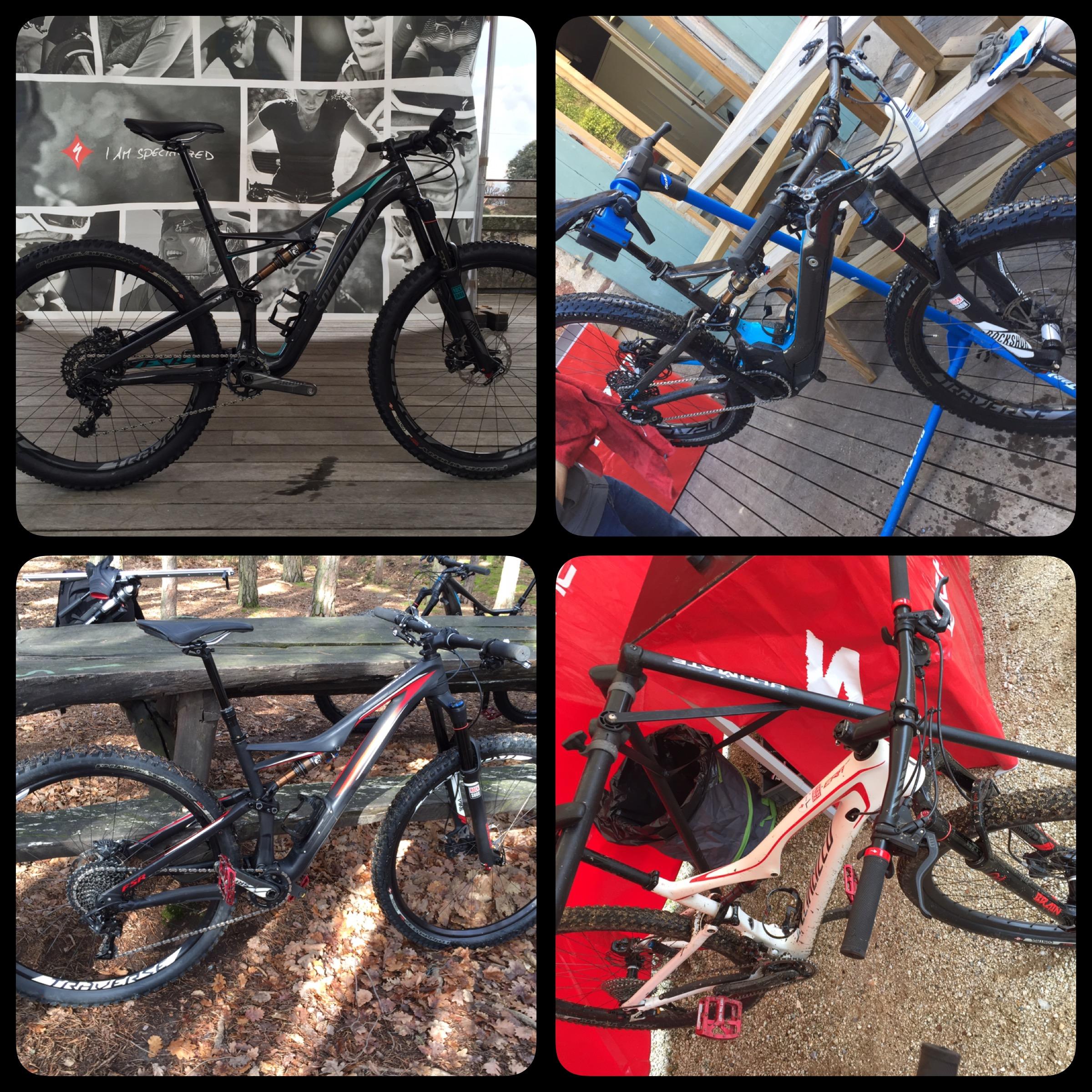 4 boucles de 5 kilomètres avec 4 vélos différents
