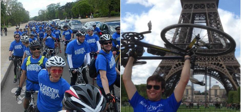 Londres-Paris à vélo pour l'assoc Make A Wish