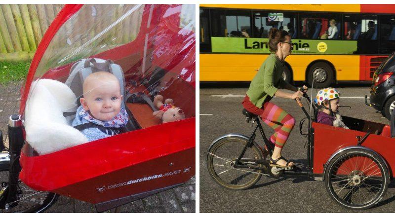 Transporter bébé à vélo, même un nouveau né, c'est possible. À Copenhague, de nombreux parents circulent à vélo avec leurs enfants. De quoi vous inspirer!