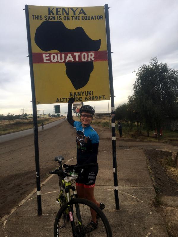 Katja traversant l'équateur
