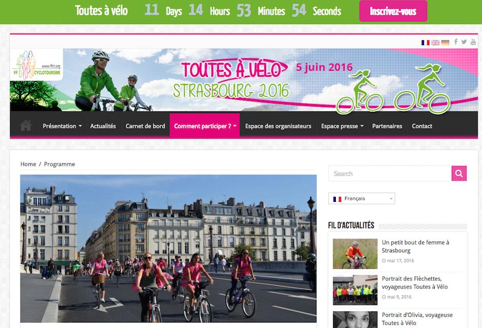 EFDV partenaire media de Toutes à vélo à Strasbourg!