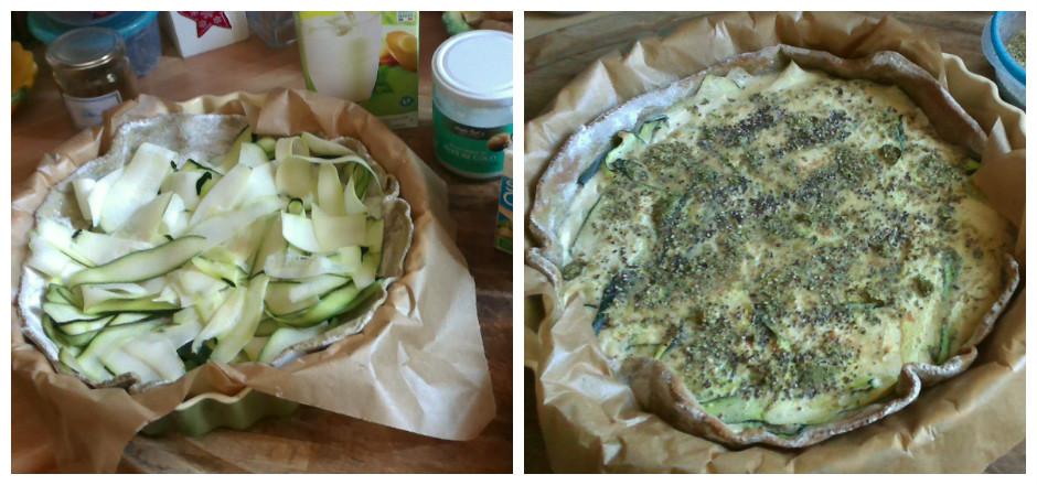 Voici une tarte vegan aux courgettes, à la farine de pois chiche et sans gluten! Pour faire le plein de protéines végétales en se régalant!