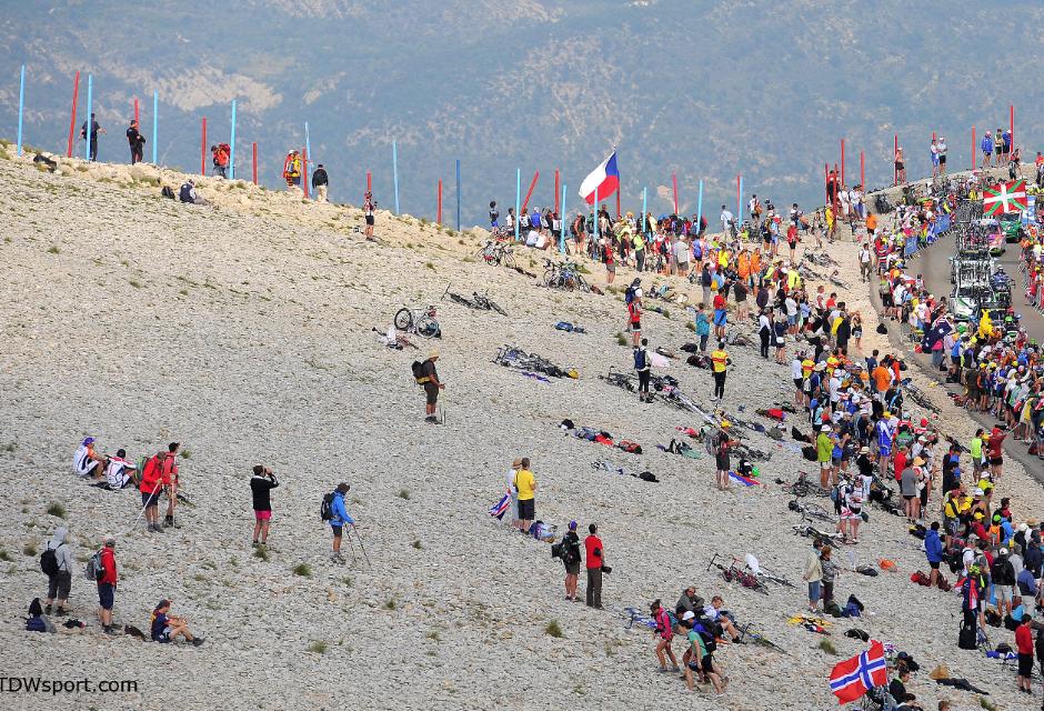 La 12ième étape du Tour de France Mont-Ventoux