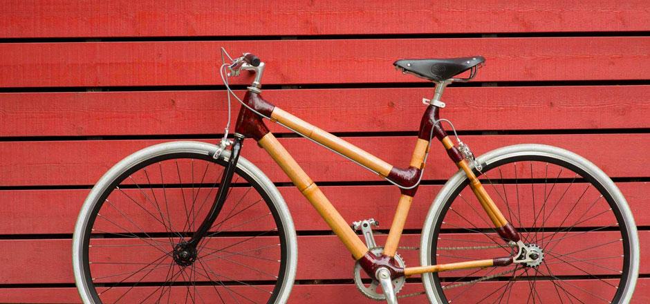 Bamboocyclette, le vélo en bambou fixie