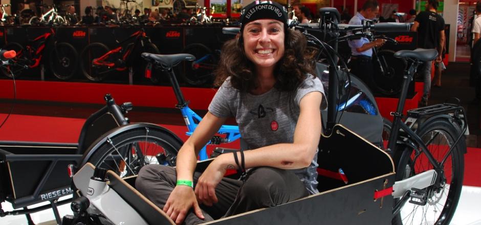 Claire, en visite à l'Eurobike Show 2016