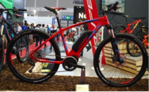 Batterie vélo apparente