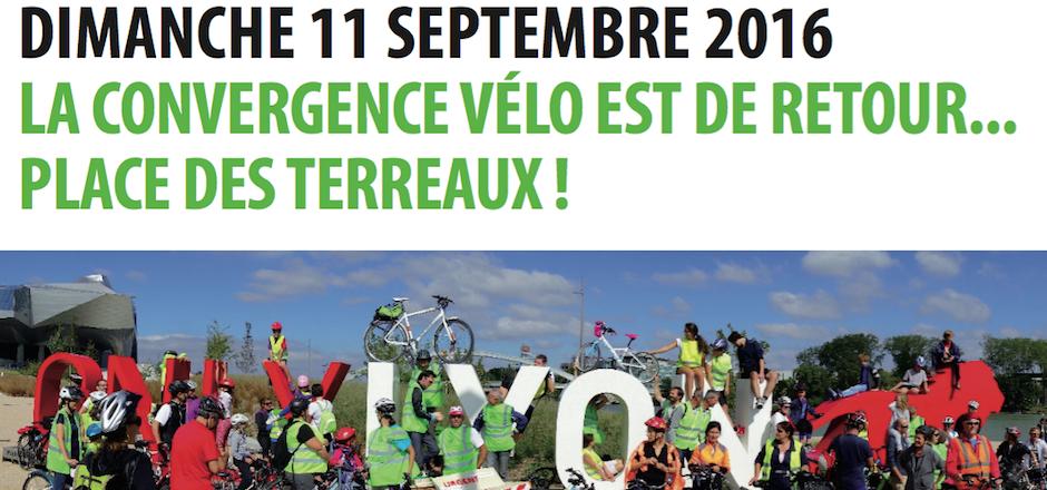 Participez à la convergence vélo vers Lyon ce 11/09/2016