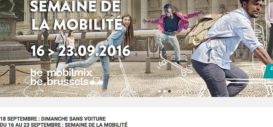 Dimanche sans voiture Bruxelles 18/09/2016. Venez nombreux à vélo