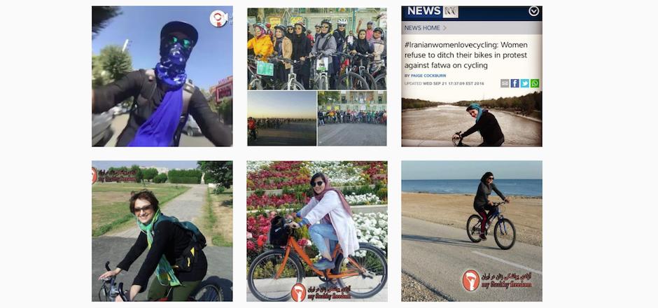 Révolution: elles roulent à vélo en Iran