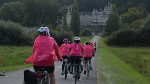 Octobre Rose à vélo au Château d'Usse