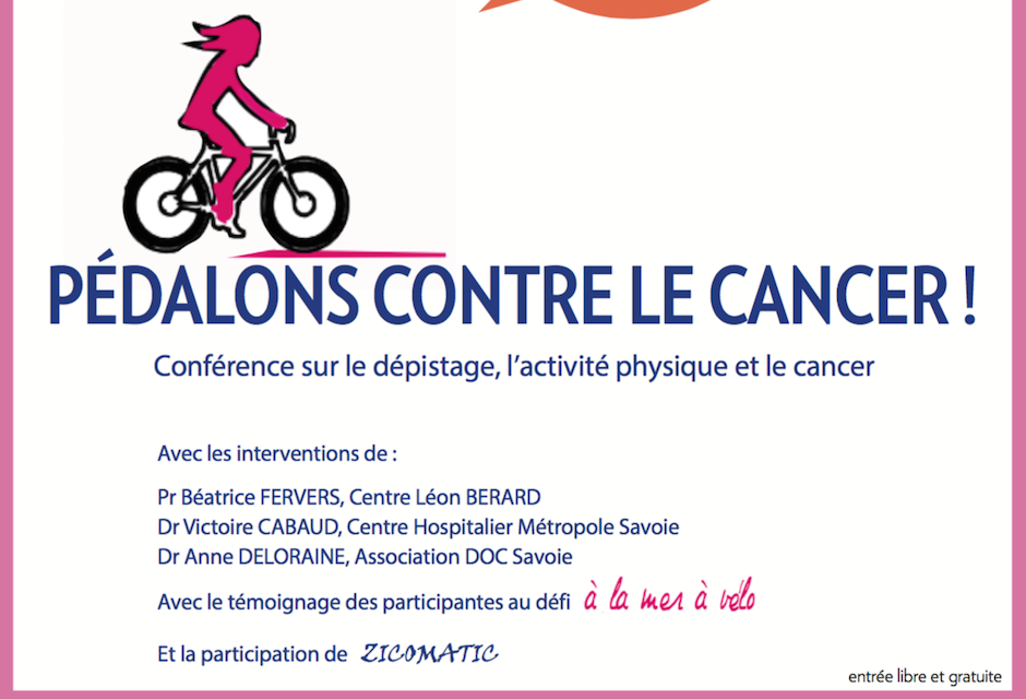 Conférence « Pédalons contre le cancer ! »