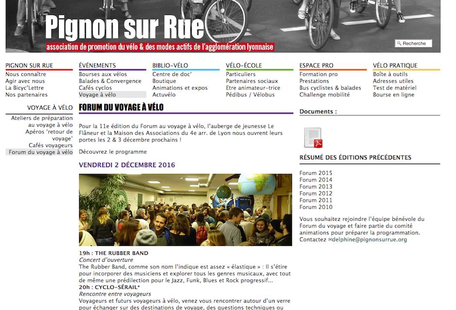 Forum du voyage à vélo de Lyon