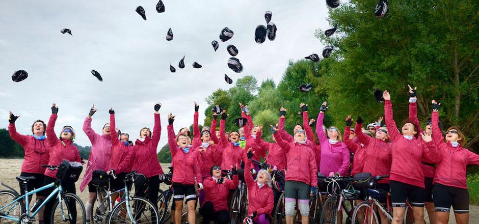 Toutes ensemble à vélo pour soutenir les femmes