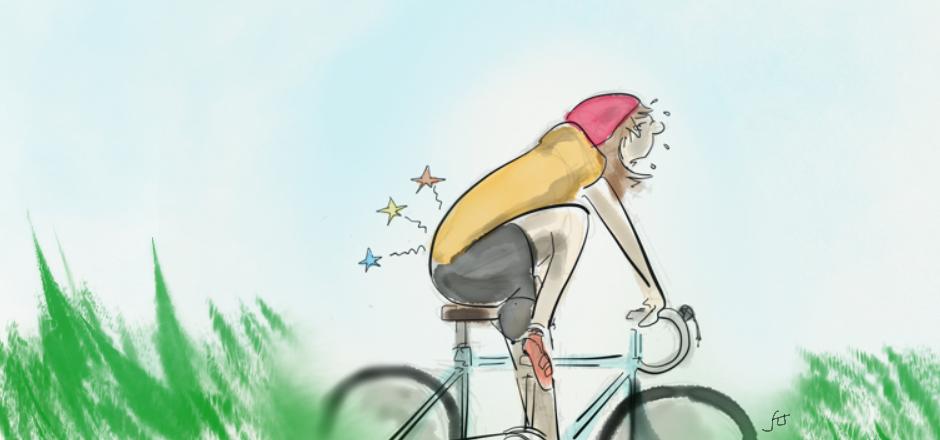 mal aux hanches à vélo