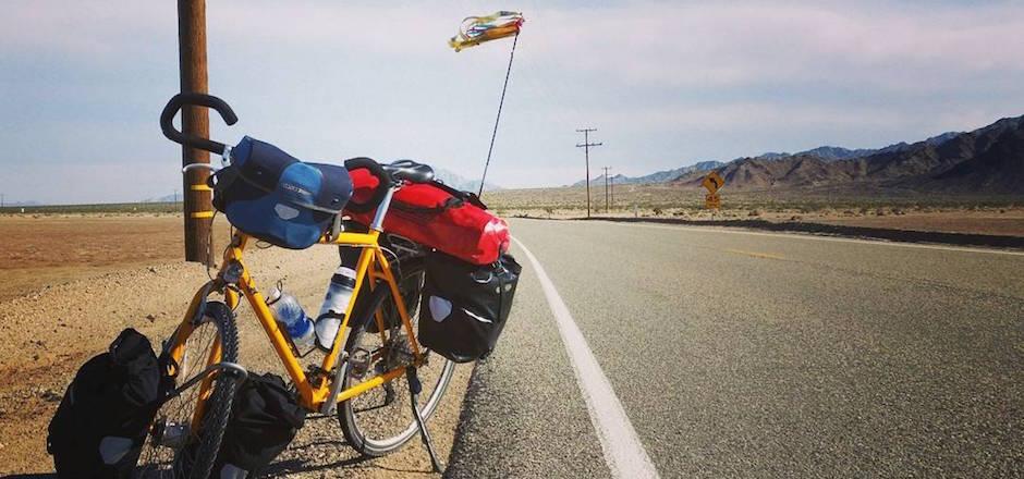 Je voyage seule à vélo