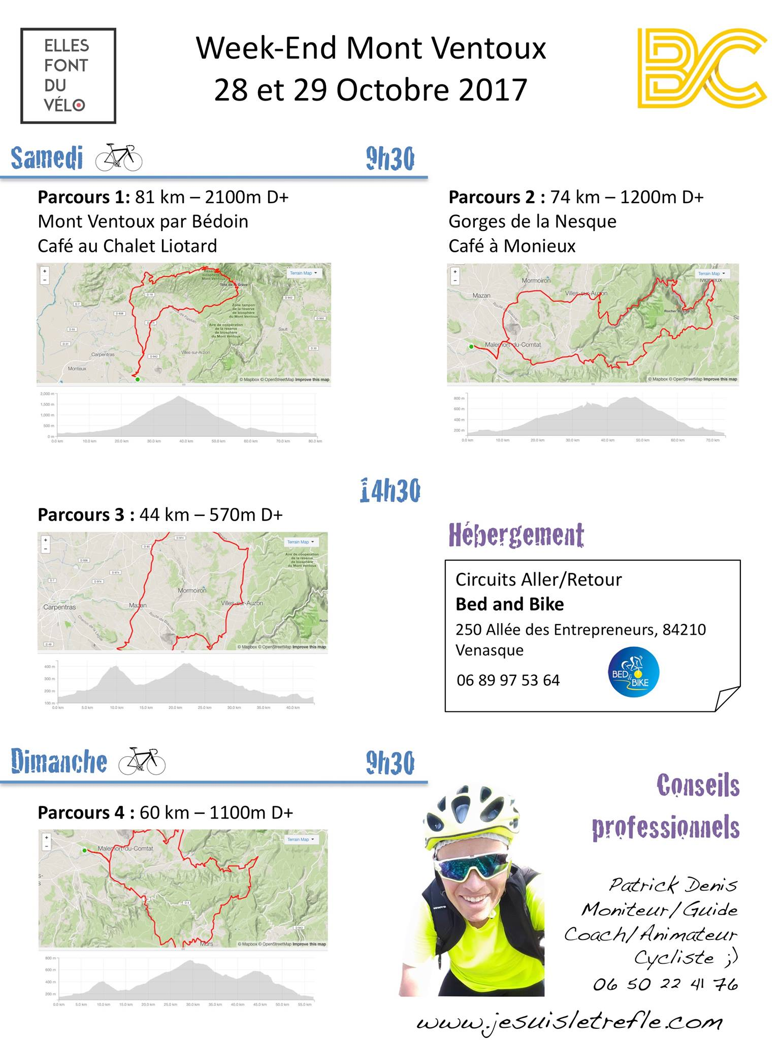 Week-end Mont-ventoux 2017