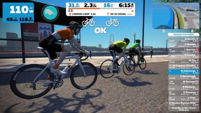 Zwift, application pour Home-trainer
