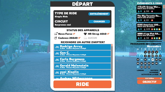 Zwift,application pour Home-trainer